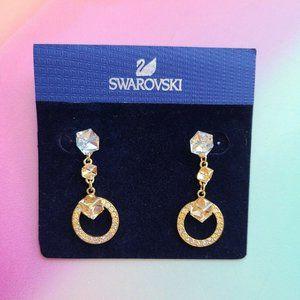 NIB Swarovski Geometric Pierced Earrings